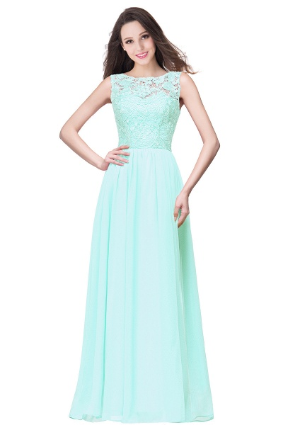 Fascinating Jewel Chiffon A-line Bridesmaid Dress_9