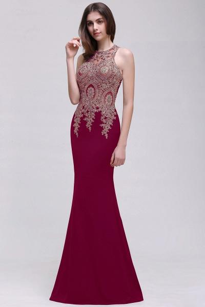Modest Jewel Chiffon Mermaid Prom Dress_1