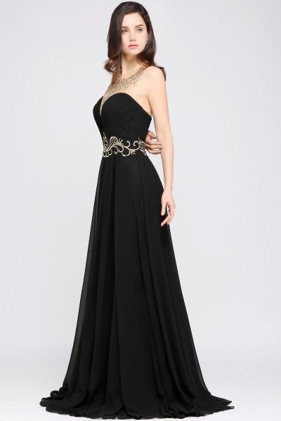 Awesome Jewel Chiffon A-line Evening Dress_6
