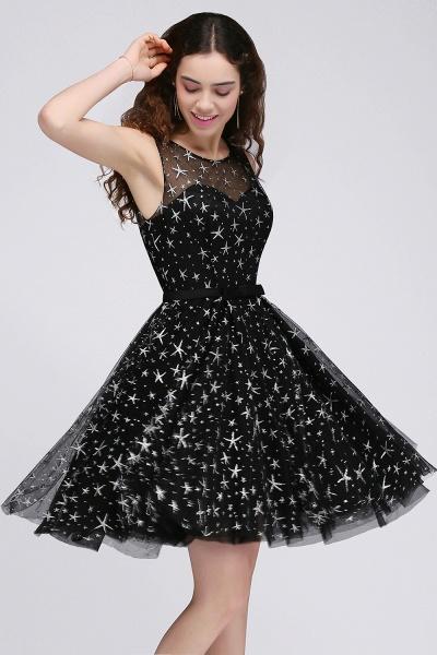 ALISHA   A Line Jewel Sheer Tulle Little Black Short Homecoming Dresses_5