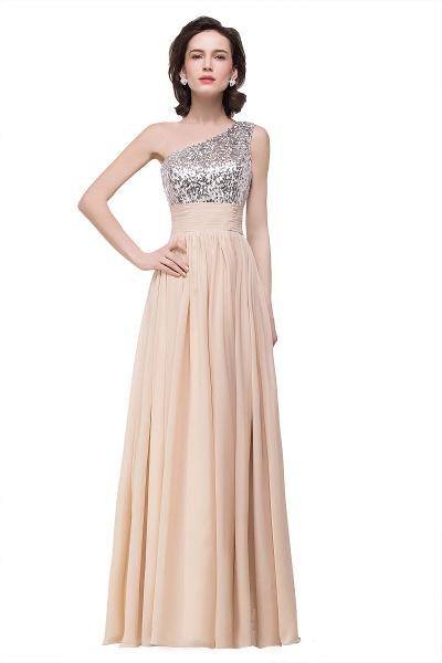 A-line Sequined Floor-length Chiffon Evening Dress_3