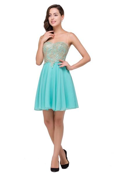 Appliques Elegant Short Sleeveless Chiffon Prom Dresses_4