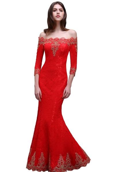EMELIA | Mermaid Off-shoulder Floor-length Lace Appliques Prom Dresses_6