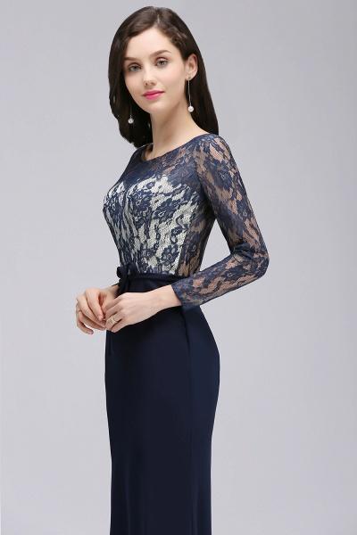 Long Sleeves Satin Mermaid Floor Length Bridesmaid Dress_7