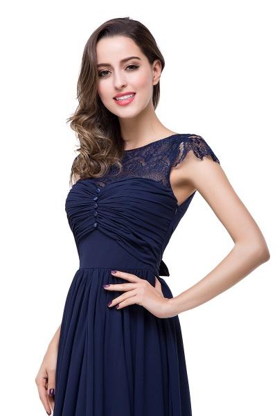 ELLEN   A-line Short Sleeves Chiffon Bridesmaid Dresses with Ribbon Bow_14