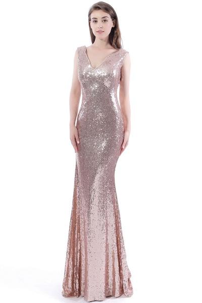 DAKOTA | Mermaid Floor Length V-Neck Long Sequins Prom Dresses_5