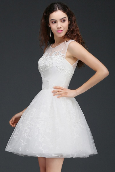 Affordable Jewel Tulle A-line Homecoming Dress_3