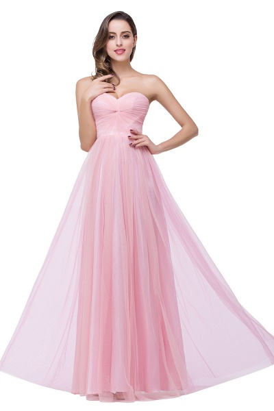 Glorious Strapless Tulle A-line Bridesmaid Dress_8