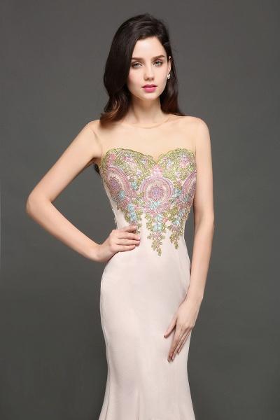 Marvelous Jewel Stretch Satin Mermaid Evening Dress_3