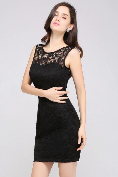 Elegant Scoop Lace Column Bridesmaid Dress_13