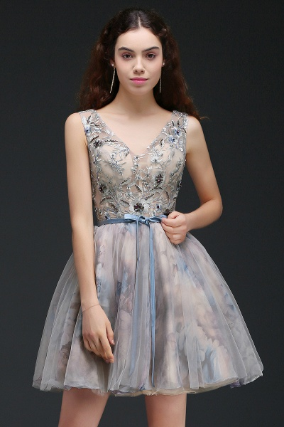 Wonderful Straps Satin A-line Homecoming Dress_4
