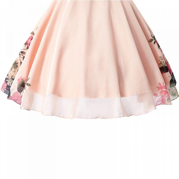ELENA | A-line Sweetheart Sleeveless Print Ruffles Short Chiffon Prom Dresses_1