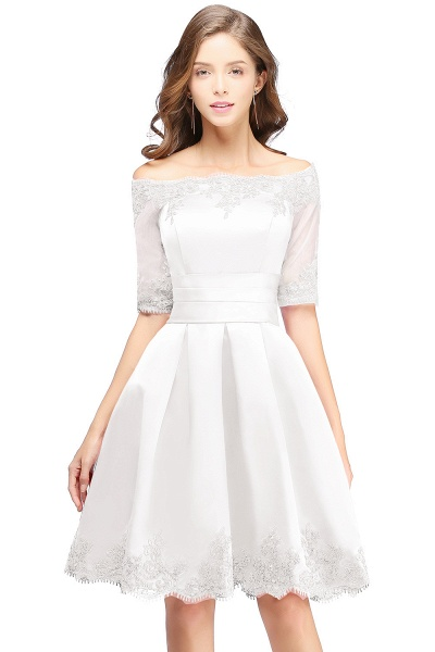 Chic Off-the-shoulder A-line Homecoming Dress_1
