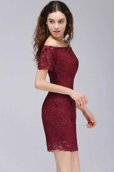 Chic Off-the-shoulder Lace Column Homecoming Dress_5