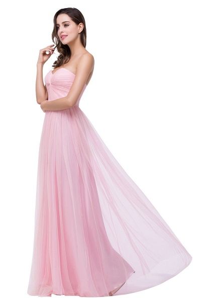 Glorious Strapless Tulle A-line Bridesmaid Dress_6
