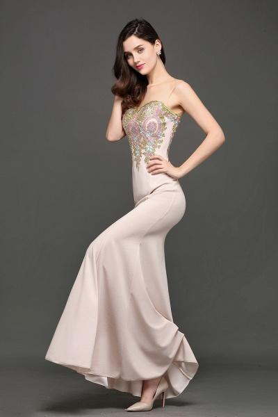 Marvelous Jewel Stretch Satin Mermaid Evening Dress_5