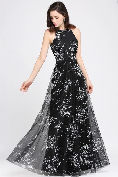 Eye-catching Jewel Stretch Satin A-line Evening Dress_2