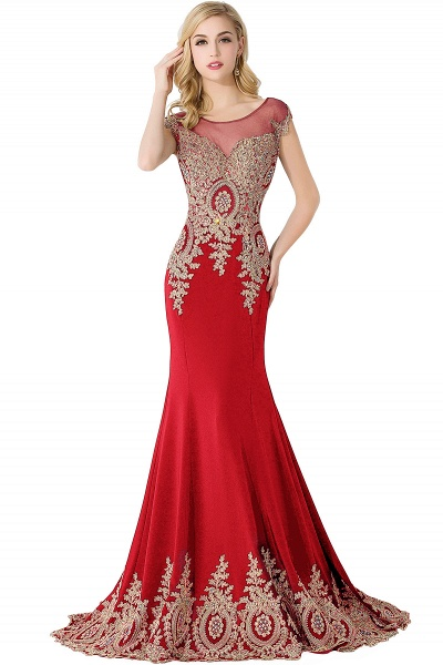 Graceful Jewel Chiffon Mermaid Prom Dress_1