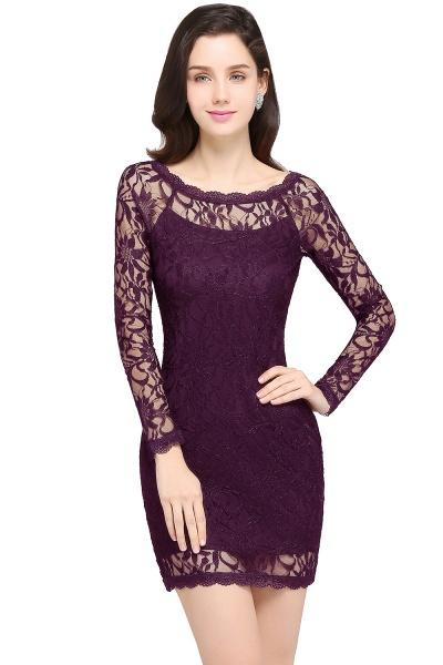 Amazing Jewel Lace Mermaid Bridesmaid Dress_3