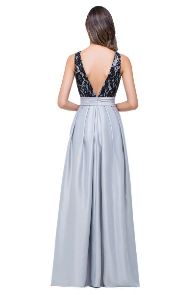 ELLIE | A-line Floor-length Crew Chiffon Lace Bridesmaid Dresses_3