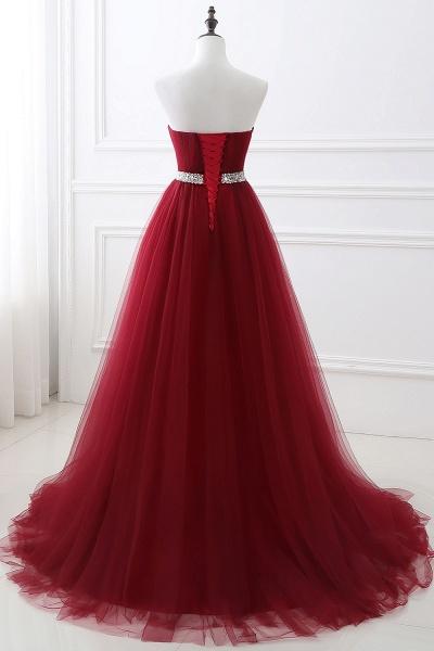 Glorious Strapless Organza A-line Evening Dress_10