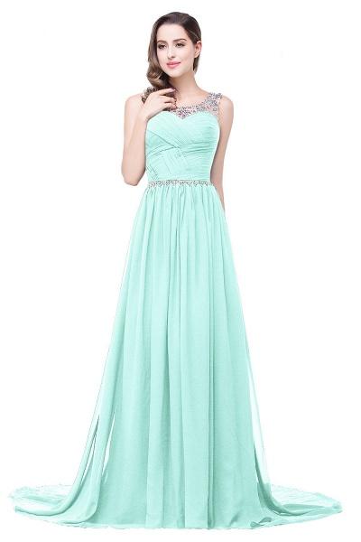 Precious Jewel Chiffon A-line Evening Dress_9