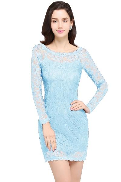 Amazing Jewel Lace Mermaid Bridesmaid Dress_5
