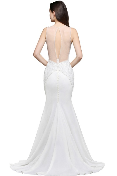 Modest Jewel Chiffon Mermaid Evening Dress_4