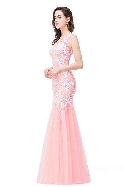 Long Lace Mermaid Sleeveless Maxi Prom Dress_10