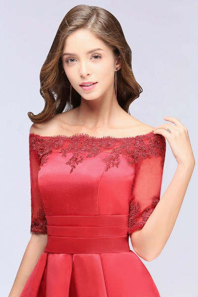 Chic Off-the-shoulder A-line Homecoming Dress_8