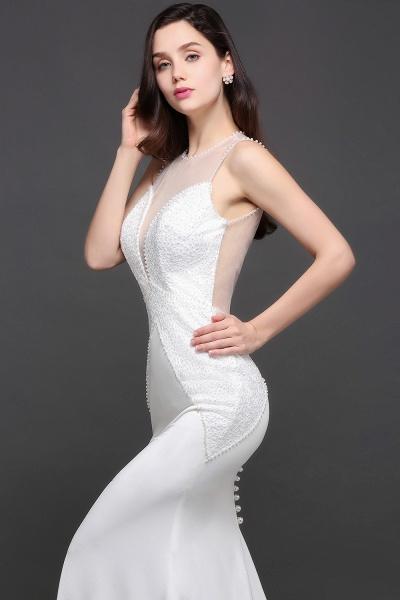 Modest Jewel Chiffon Mermaid Evening Dress_10
