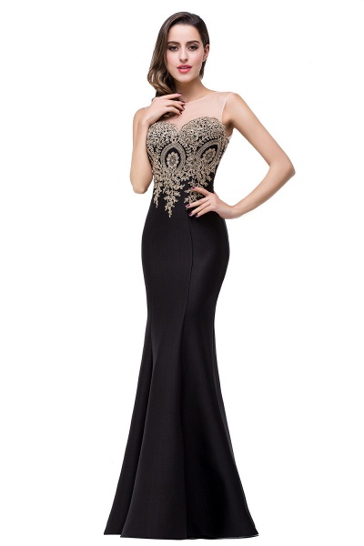 Mermaid Floor-Length Sheer Prom Dresses with Rhinestone Appliques_25