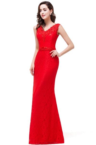 EMERIE | Mermaid Floor-length Sleeveless V-Neck Lace Prom Dresses_6