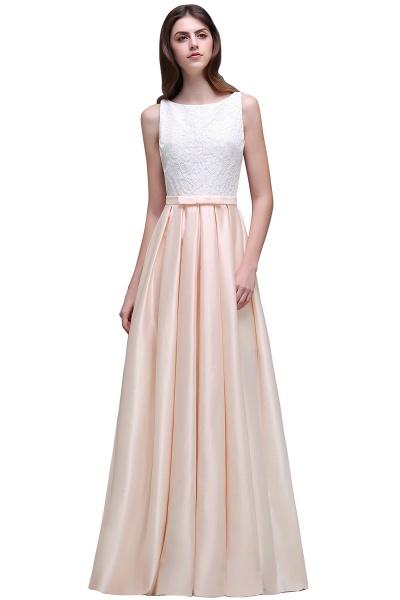 Lace A-line Floor Length Bridesmaid Dress_2