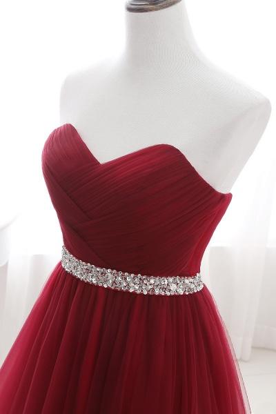 Glorious Strapless Organza A-line Evening Dress_13