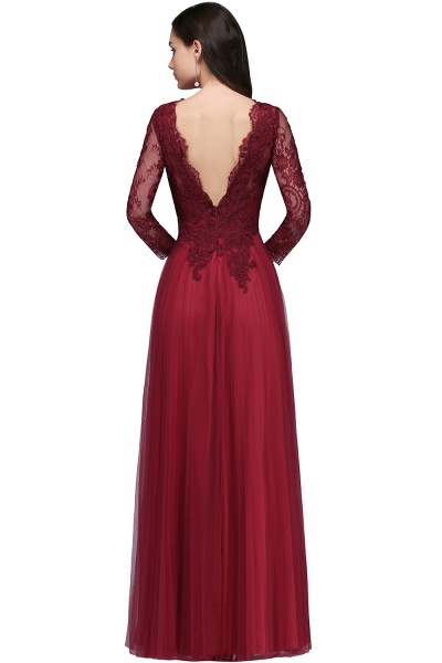 Marvelous V-neck Tulle A-line Prom Dress_5