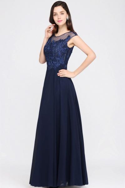 Modest Jewel Chiffon A-line Evening Dress_6