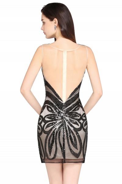 Attractive Scoop Sequined Column Homecoming Dress_3
