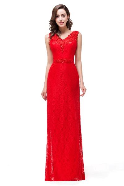 EMERIE | Mermaid Floor-length Sleeveless V-Neck Lace Prom Dresses_5