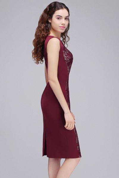 Amazing Jewel Satin Mermaid Homecoming Dress_6