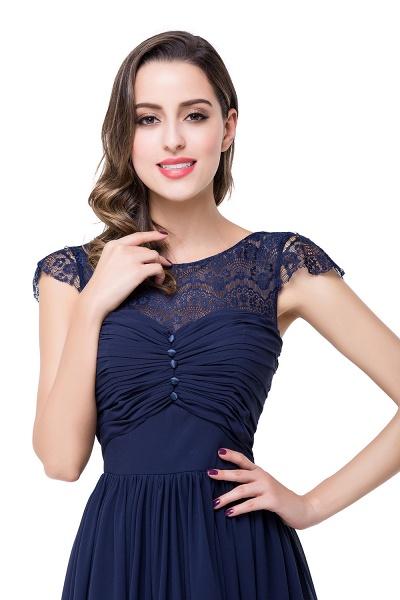 ELLEN   A-line Short Sleeves Chiffon Bridesmaid Dresses with Ribbon Bow_19