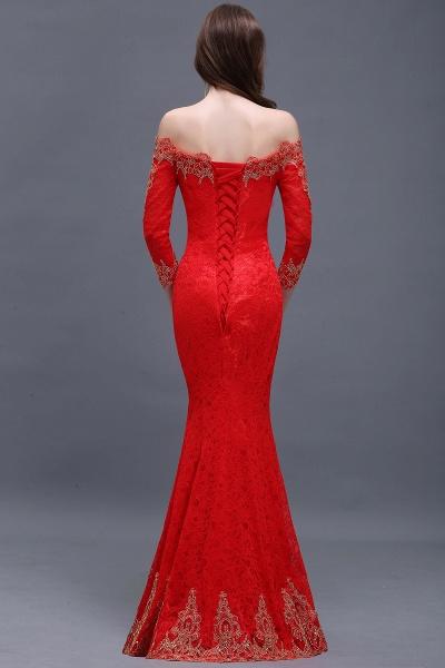 EMELIA | Mermaid Off-shoulder Floor-length Lace Appliques Prom Dresses_7