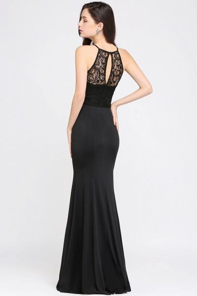 Eye-catching Halter Lace Mermaid Bridesmaid Dress_5