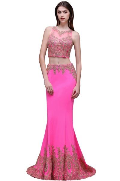 Fascinating Jewel Stretch Satin Column Prom Dress_1