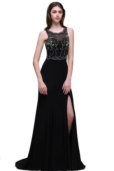 Wonderful Straps Chiffon Column Prom Dress_1
