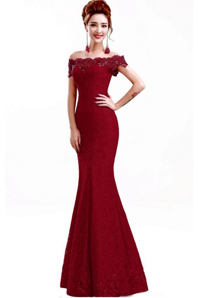 EMMALYNN | Mermaid Off Shoulder  Floor-Length Lace Bridesmaid Dresses_7