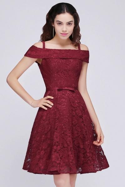 BRISTOL | A-Line Spaghetti Straps Short Lace Burgundy Homecoming Dresses_6