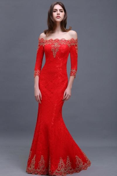 EMELIA | Mermaid Off-shoulder Floor-length Lace Appliques Prom Dresses_9
