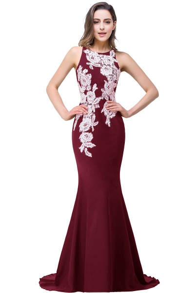 ERIN   Mermaid Crew Sleeveless Floor-Length Prom Dresses With Appliques_1