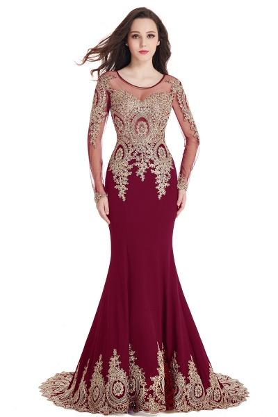 Beautiful Jewel Stretch Satin Mermaid Prom Dress_3